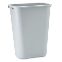 Rubbermaid Commercial Deskside Plastic Wastebasket Rectangular  Gray