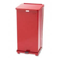 Rubbermaid Commercial Defenders Biohazard Step Can Square Steel 24gal Red