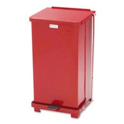 Rubbermaid Commercial Defenders Biohazard Step Can Square Steel 12gal Red