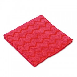 Rubbermaid Commercial HYGEN Microfiber Cleaning Cloths 16 x 16 Red