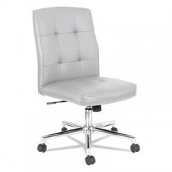 Alera Slimline Swivel/Tilt Task Chair White with Chrome Base