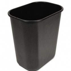 Boardwalk Soft-Sided Wastebasket 28qt Black