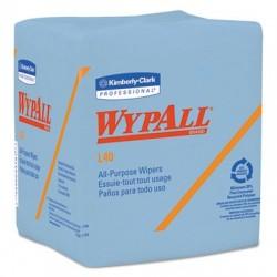 WypAll L40 Wiper 1/4 Fold Blue 12 1/2 x 12 56/Box