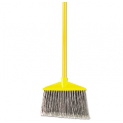 Brute Angle Broom Flagged Gray w Handle