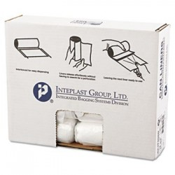 Inteplast Group High-Density Can Liner 24 x 24 10gal 8mic Clear