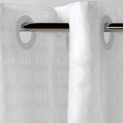 Shower Curtains 100% Polyester Hookless WHITE   71 X 74   Weight Bottom Hem Water Repellent