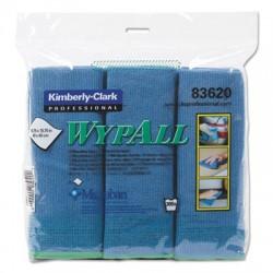 WypAll Microfiber Cloths Reusable 15 3/4 x 15 3/4 Blue