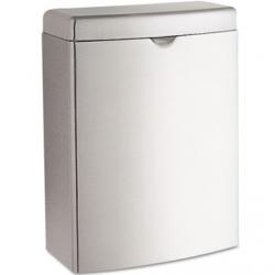 Contura Sanitary Napkin Receptacle Rectangular Stainless Steel 1gal