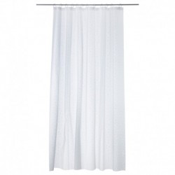 SHOWER CURTAINS *NEW (WHITE)  W/ 12 SHEER VOILE WINDOW 71 x 74 100% POLYESTER HOOKLESS WEIGHTED BOTTOM HEM. WATER REPELLENT. (M