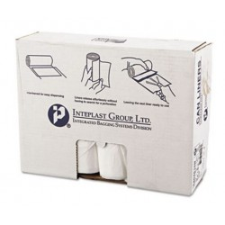 Inteplast Group High-Density Can Liner 40 x 48 45gal 16mic Clear