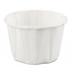 Genpak Squat Paper Portion Cup 1oz White