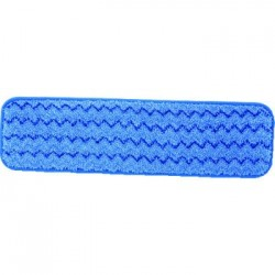 Rubbermaid Commercial Microfiber Wet Room Pad Split NylonPolyester Blend 18 Blue