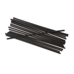 Boardwalk Unwrapped Single-Tube Stir-Straws Black