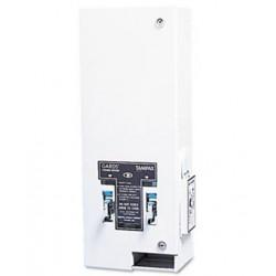 HOSPECO Dual Sanitary Napkin/Tampon Dispenser Coin Metal White