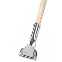 Boardwalk Clip-On Dust Mop Handle Lacquered Wood Swivel Head 1 Dia. x 60in Long