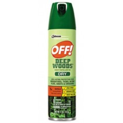 OFF! Deep Woods Dry Insect Repellent 4oz Aerosol Neutral