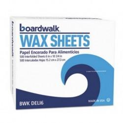 Boardwalk Interfold-Sheet Deli Paper 6 x 10 3/4 White 500 Sheets per Box