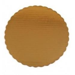 10 Gold Corrugated Circles