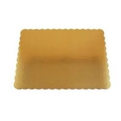 19 x 14  Gold Scalloped Edge Corrugated Board