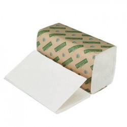 Boardwalk Green Single-Fold Towels Natural White