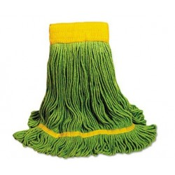 EcoMop Looped-End Mop Head Recycled Fibers Medium Size Green