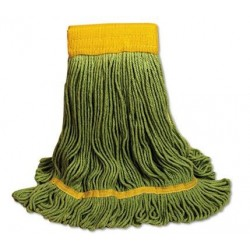 EcoMop Looped-End Mop Head Recycled Fibers Large Size Green