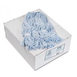 Mop Head Floor Finish Narrow Rayon/Polyester Medium White/Blue