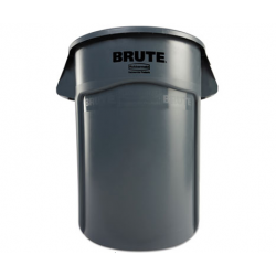 Rubbermaid Commercial Brute Vented Trash Receptacle Round 44 gal Gray