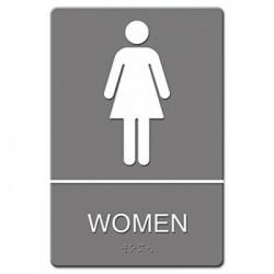 C-6X9 ADA SIGN WOMEN-GAY