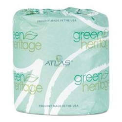 ATLAS PAPER MILLS- Green Heritage Toilet Tissue 4 x 3.1 Sheets 2-Ply 400 per Roll White
