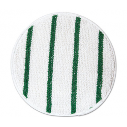 Low Profile Scrub-Strip Carpet Bonnet 17 Diameter WhiteGreen