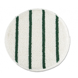 Low Profile Scrub-Strip Carpet Bonnet 19 Diameter WhiteGreen