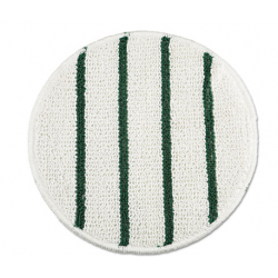 Low Profile Scrub-Strip Carpet Bonnet 21 Diameter White/Green