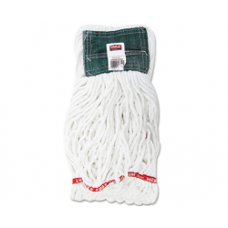 Web Foot Shrinkless Looped-End Wet Mop Head Cotton/Synthetic Medium White