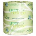 ATLAS PAPER MILLS- Green Heritage Toilet Tissue 4 x 3.1 Sheets 2-Ply 500 per Roll White