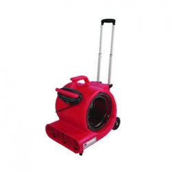 COMMERCIAL THREE-SPEED AIR MOVER W/BUILT-ON DOLLY RED