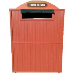 Synthetic Wood Towel Return Bin Sand Stone Color to fit your bin of 58 H x 35 W x 26 D Front Door Access To Match Drawin