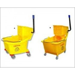 Mop Bucket 35 QT Dual-Cavity Mopping System Yellow