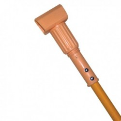 Wet Mop Handle Plastic Head Size:60  Janitorial Size  with fiberglass handle. Style: Jaw Clamp. YELLOW