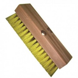 Deck Scrubs with Wood Block Size:10 Block:Wood Fiber:2 Polypropylene & Yellow