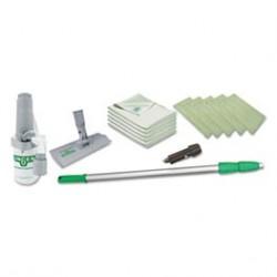 Unger Speed Clean Window Kit. Kit Contents: Sprayer OnABelt 8 Aluminum Pad HOlder Micro Wipes Hiflo Thead Adaper for Aluminum