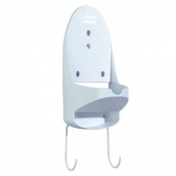 Sunbeam Ironing Board Holder with Hooks and Wall Bracket with Hardware White