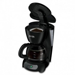Mr Coffee 4 Cup Coffeemaker Auto Off Pause n Serve Glass Carafe Black