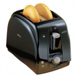 Toaster 2 Slice Toaster X-Wide Cool Touch Removable Crumb Tray Black