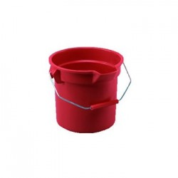 Rubbermaid Commercial BRUTE Round Utility Pail 14qt Red
