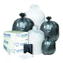 HIGH-DENSITY CAN LINER 30 X 37 30-GALLON 8 MICRON CLEAR