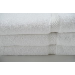 Oxford Bronze 10S WHITE 10.00lb Bath towel 24x50 (Classic) Towels Economy Cotton