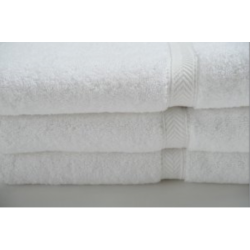 BATH TOWELS 27 X 50 86% Cotton Ringspun 14% Polyester with 100% cotton Loops Dobby Border