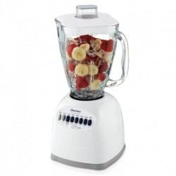 Oster Blender 5 cup glass jar 12 speed pulse option ice crusher blend all metal drive white